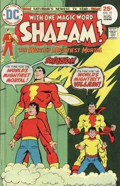 Dc - August - Superhero - The Worlds Mightiest Mortal - Shazam Dc Comics, Comics For Sale, Horror Comics, Superman Comic, Batman, Captain Marvel Shazam, Marvel Marvel, Dc Comic Books, Comic Book Covers