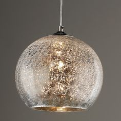 Crackled Mercury Bowl Pendant Light - Shades of Light