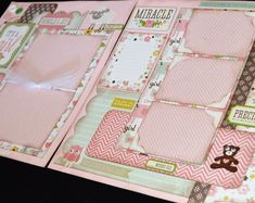 12X12 Baby Girl Scrapbook Page Kit, 12X12 Premade Scrapbook Page, Baby Girl Scrapbook Page, Scrapbook Premade Page, 12X12 Scrapbook Layout