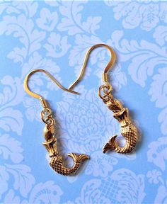 Mermaid Gifts for Mom / Gold Earrings / Under by NamecakesbySonia