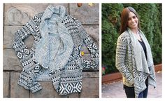 Beautifully Patterned Cardigan Sweater!