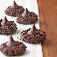 Chocolate Kisses cookies made using refrigerated store-bought dough.  Quick and easy...
