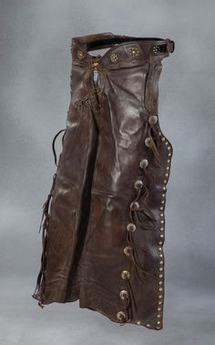 Two Pair of Studded Batwing Chaps