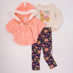 Little Lass Girls 2 Piece Sweater Set Multi Cable Floral