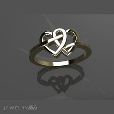 Fashion Ring, Heart style [613-17199]http://www.jewelrythis.com/shop/fashion/fashion-ring-heart-style-613-17199/
