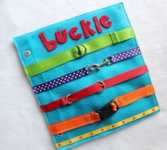 Custom Hand-Crafted Childrens Quiet Book Page. Great way to keep your little ones occupied and learning during church, doctors appointments, traveling, or anywhere you need to keep your children quietly entertained! Unique and thoughtful gift idea! Expand and change your book with your child as they learn and grow! Choose any 4+ page book and you will receive a FREE personalized cover with easy-to-carry handles!  This listing is for Buckle the Belts - a single page to add to your…