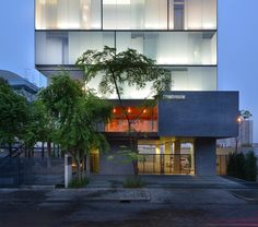 Built by Stu/D/O Architects in Bangkok, Thailand with date 2014. Images by Wison Tungthunya. With the attempt to reveal the agenda of the building through its skin, Stu/D/O Architects treated the Zonic Vision O...
