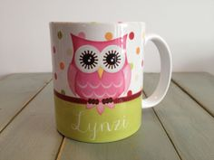 Personalized Owl Mug / Coffee Mug / Gift / Pink Owl