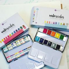Hubby gave me some money for my upcoming birthday and I bought some water colors! #primaproducts #watercolorconfections #prima confection #primaconfections #primawatercolors #watercolors
