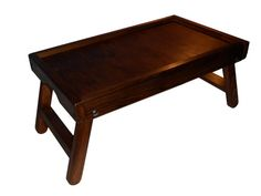 Bamboo Folding Breakfast Lap Tray Wood Over Bed Table