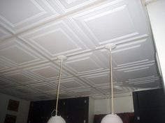 drop ceiling, perfect for my living room