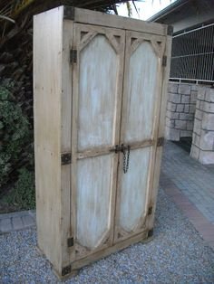 """(RS 35) Linen / Clothing Cupboard. Dimensions L 900 x W 450 x H 1840 mm. 4 Racks Inside! Price R4587. More exclusive furniture & decor available! Can be ordered in dimensions of your choice and in """"rustic"""", """"whitewash"""" or """"shabby chic"""" finishes! Send e-mail to humanr@telkomsa.net or call 0218632371 / 0835143382.  FB: http://www.facebook.com/RoesSkroef"""