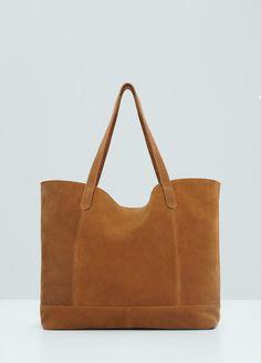 Bolso shopper piel | MANGO