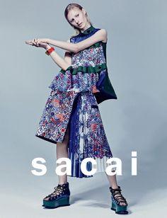 Julia Nobis, Australian model by Craig McDean for SACAI Spring/Summer Fashion Brand, Love Fashion, Runway Fashion, Spring Fashion, High Fashion, Womens Fashion, Fashion Design, Haute Couture Style, Craig Mcdean