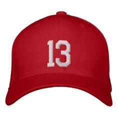 13 Thirteen Embroidered Baseball Hat