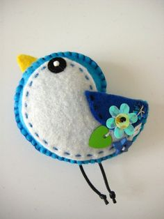 uccellino in feltro - Birds of felt