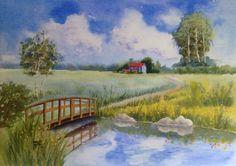 Road to home. Watercolor 38x28 cm.   #watercolor