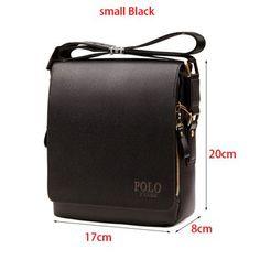 In 2016,Men's Shouder Bag Leather Business Messenger Bags Men Crossbody Bags POLO Brand Man Briefcase Travel Trunk Bag Men
