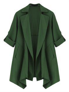 Sale 30% (31.5$) - Casual Women Loose Long Sleeve Irregular Jacket