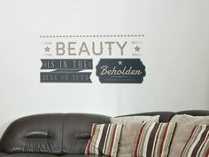 Beauty Wall Sticker - typography wall sticker