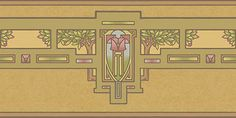 Arts & Crafts Interior Design | Apple Tree Wallpaper Border & Frieze in Olive