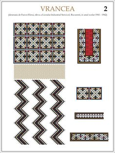 eleva - ie Vrancea (JPEG Image, 1200 × 1600 pixels) — Масштабоване Folk Embroidery, Embroidery Patterns, Cross Stitch Patterns, Romania People, Hama Beads, Traditional Outfits, Beading Patterns, Pixel Art, Origami