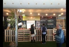 Melbourne-Pop ups 'show up' | Pop Up Pages- using pallets to construct a bar!
