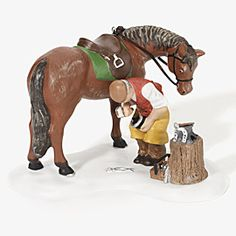 """Dept 56, Dickens' Village, """"Blacksmith to the Rescue, NEW, #56.58541/burnt in fire-one of my favorites"""