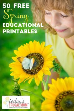 Come and grab these 50 spring-themed free educational printables for your children to enjoy! :: todaysfrugalmom.com