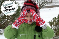 Insulated Snow Mitten FREE pattern & how-to by Sew Can Do
