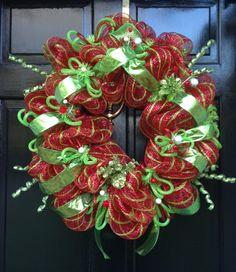 CHRISTMAS deco mesh WREATH by sayitwithawreathcom on Etsy, $87.50