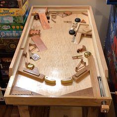 Pinball, Cornhole Scoreboard, Sunken Tub, Marble Machine, Wooden Bicycle, Fun Outdoor Games, Family Fun Games, Wood Games, Cafe Art