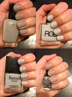 Dove Grey Nail Polish Comparison Swatches