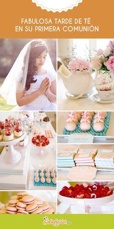 Tu hermosa hija está a punto de realizar su primera comunión y quieres sorprenderla organizando un memorable agasajo en el que junto a familiares y amigos cercanos conmemore tan especial fecha durante una inolvidable tarde llena de sorpresas, dulces y delicioso té.