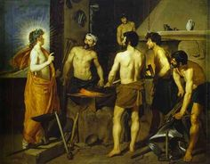 Diego Velazquez Paintings | The Forge of Vulcan. 1630. Oil on canvas. Museo del Prado, Madrid ...