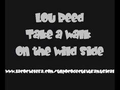 Bye Lou...nice run, take it away...   Lou Reed  - Take A Walk On The Wild Side