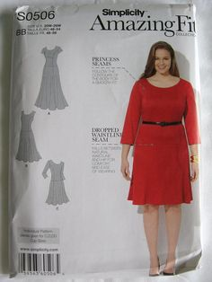 Veruca Salt costume?  Amazing Fit Simplicity Misses A Line Dropped Waist Dress Pattern S0506 UC Uncut FF Size 20 22 24 26 28 W on Etsy, $9.00