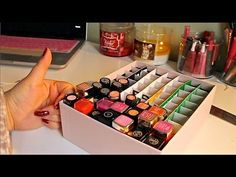 DIY Lipstick Holder! This is EXACTLY what I was looking for!!