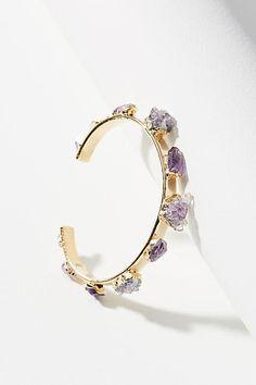Dani Barbe Raw Amethyst Cuff Bracelet