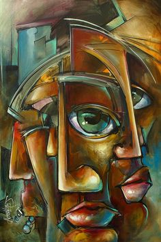 Portrait Painting - reality Side Effects by Michael Lang Art Visage, Arte Pop, Art Pages, Geometric Art, Portrait Art, Oeuvre D'art, African Art, Urban Art, Figurative Art