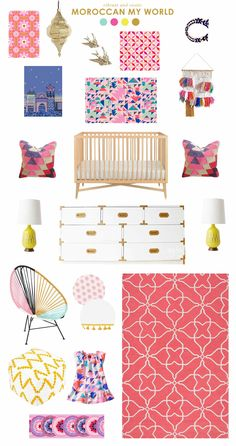 color schemes, girl nurseries, laybabylay, tea collect