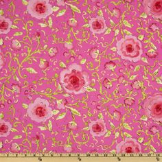 Pretty Little Things Sophia Floral Pink fabric