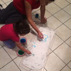Baking Soda-Shaving Cream-Sparkles = fun snow :) then added Colored Vinegar for fizzy bubbles