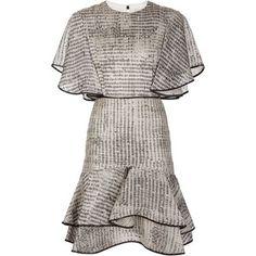 Jason Wu Ruffled Hem Shortsleeved Dress