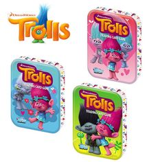 Topps Dreamworks Trolls Trading Card Game Mini Tin with Cards Assorted