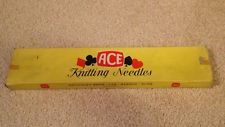 ACE Knitting Needles Critchley Bros 9 Gauge (10'') Vintage 1960's Knitting Needles, Gauges, Vintage Sewing, Needlework, Antiques, Vintage Couture, Embroidery, Antiquities, Dressmaking