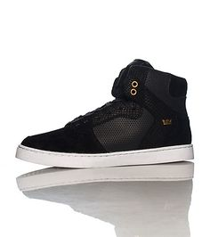 e3c8b04445a SUPRA Men s mid top sneaker Lace up closure Padded tongue with SUPRA logo  Cushioned inner sole for c.