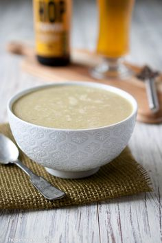 Asparagus Pale Ale Soup - I think they used the white asparagus for this since it doesn't look green.