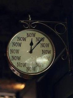 """the time is now"" clock 