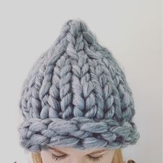 Our 'Big Bootie Beanie'.  Made from pure merino.  Thick, warm, snuggly.  Made from thick, big, chunky, large, extreme  merino wool.   Purchase from 'Savannah Anne Knits' on Facebook.